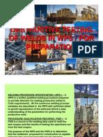DESTRUCTIVE TESTING OF WELDS IN WPS-PQR PREPARATION