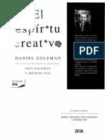 Goleman El Espiritu Creativo