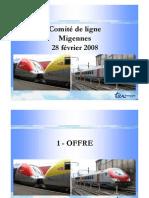 Présentation Comite de Ligne Migennes du 28 Février 2008