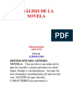ANÁLISIS DE LA NOVELA