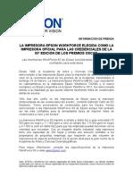 CPR N¡ 129 - EPSON CREDENCIALES DE L A 85 EDICION DE LOS PREMIOS OSCAR v1.doc