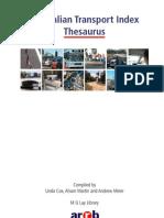 Traffic Science Thesaurus