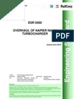 Overhaul of Napier NA 155 Turbochargers