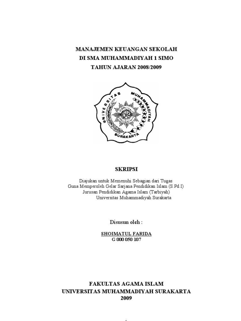 Contoh Proposal Pengajuan Judul Skripsi Manajemen Pendidikan Islam Kumpulan Berbagai Skripsi