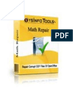 OpenOffice Math Repair Software