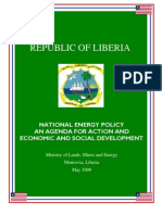 LIBERIA - National Energy Policy 2009