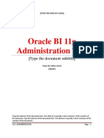 1.Creating a Repository Using the Oracle BI 11g Administration Tool