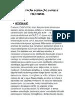 FERMENTAÇAO E DESTILAÇOES