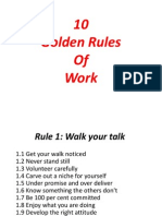 10 Golden Rules of Work