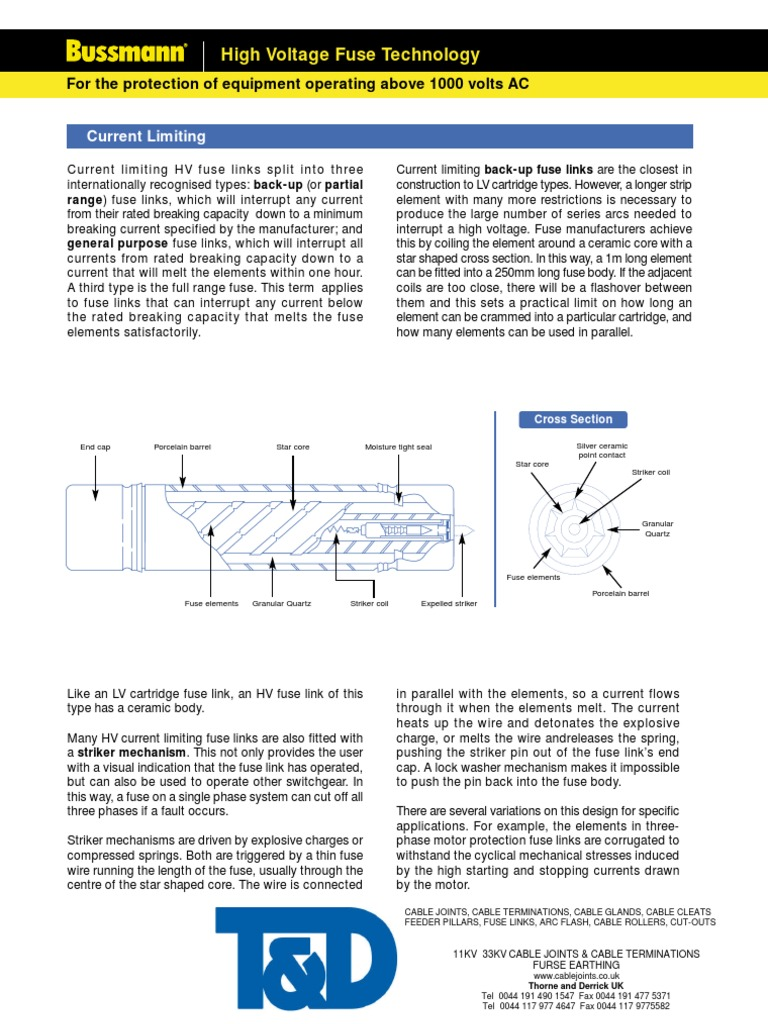 Bussmann High Voltage Fuses Catalogue | Fuse (Electrical) | Transformer