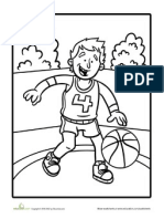 Color the Basketball Player