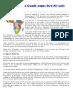 De l'Afrique à la Guadeloupe-- être Africain aux Antilles