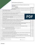 TAG BPO Expectation Checklist Document v1.2