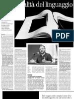 La carnalità del linguaggio. Un incontro con il neurolinguista Andrea Moro - il Manifesto 26.02.2013