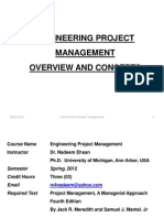 Engineering Project Management- 1 Feb 2012