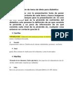 Distribución de tema de dieta para diabético.doc