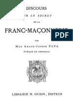 Discours Sur Le Secret de La Franc-maconnerie 000000300
