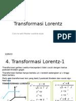 Presentasi Fisika Lorentz