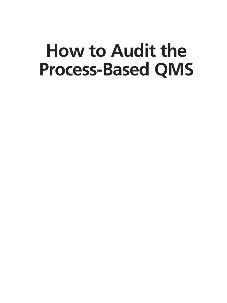 How to audit the process based qms audit quality management fandeluxe Images