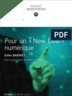 Etude Pour Un New Deal Numerique