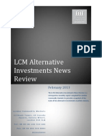 Global Alternative Investments News Review Feb 2013
