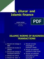 Riba Gharar Islamic Finance