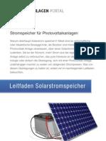 Leitfaden-Solarstromspeicher