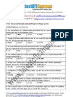 Honeywell Sample Aptitude Placement Paper Level1