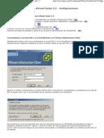 Configuración genéricas de VMware Virtual Center 2.5, Crear MVs, HA, DRS, Resource Pool...
