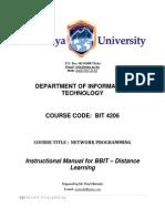 BIT 4206 -Network Programming