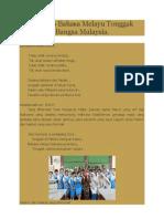 Teks Pidato Bahasa Melayu Tonggak Perpaduan Bangsa Malaysia