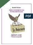 Steiner Rudolf - Tres Conferencias