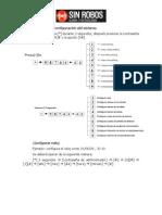 SR2104 opciones de configuración de la alarma sinrobos