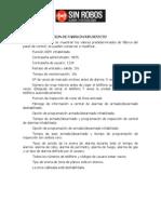 SR2104 Valores Por Defecto de la alarma sinrobos