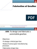 Design and Fabrication of GearBox