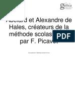 Abelardo y Alejandro de Hales, creadores del método escolástico
