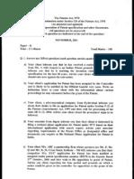 Indian Patent Agent Exam p2_nov2001