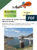 Aesa aponta 50 açudes com baixo volume de águas na Paraíba