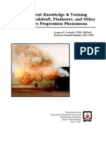 The Current Knowledge & Training Regarding Backdraft, Flashover, and Other Rapid Fire Progression Phenomena