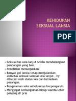 6. KEHIDUPAN SEKSUAL LANSIA