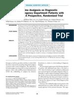 Opioid Analgesics for Abdominal Pain