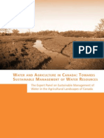 Water and Agriculture in Canada
