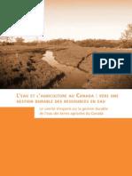 L'eau et l'agriculture au Canada