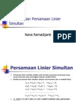 MetNum4-Penyelesaian Persamaan Linier Simultan_baru