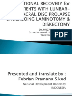 Functional Recovery for Patients With Lumbar-sacral Disc Prolapse