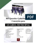 Questões e Provas Gabaritadas de Concurso para Guarda Municipal