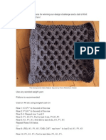 Congratulations to Fiona for Winning Our Design Challenge and a Ball of Knit Picks Chroma Sock Yarn