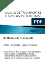 Tema 1 Modais de Transportes e Suas Caracteristicas