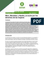 Informe sobre Mars, Mondelez y Nestlé