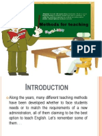 Methods for Teaching English Language